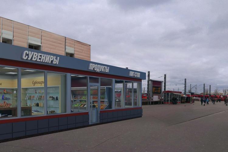 Торговый павильон на Савелеовском вокзале