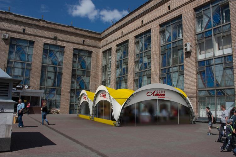 Летняя веранда на Ленинградском вокзале