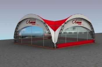 Дуговой шатер Конструкция 5х5м