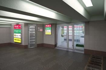 Торговая галлерея на Ленинградском вокзале, дизайн, 3D визуализация