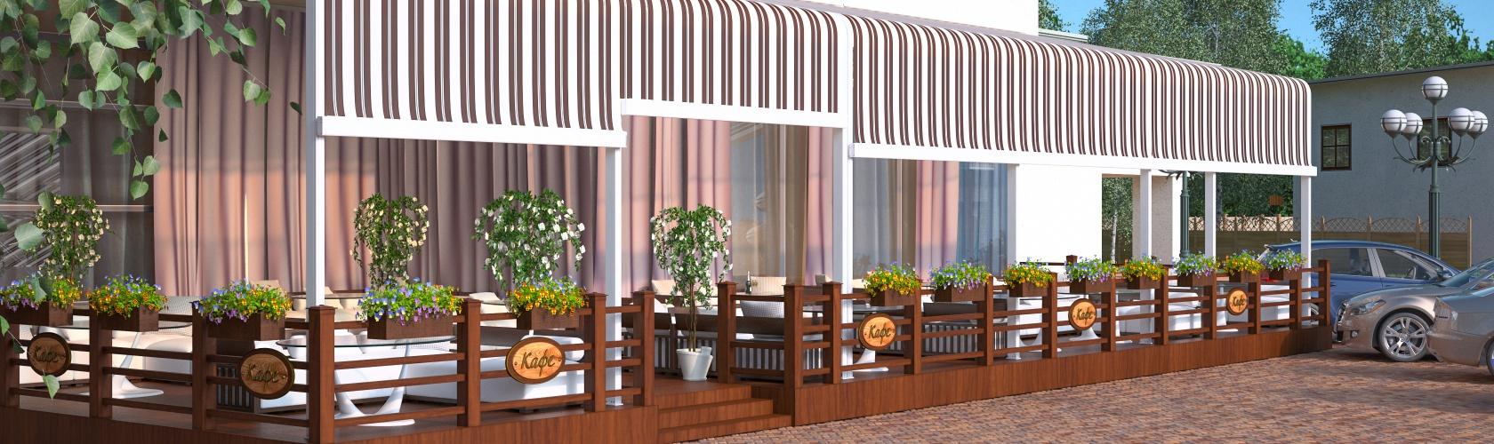 Современные летние кафе под ключ - дизайн-проект, производство, установка.