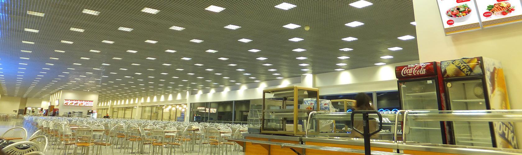 Разработка, производство и обслуживание световых меню для кафе и торговых сетей быстрого питания.